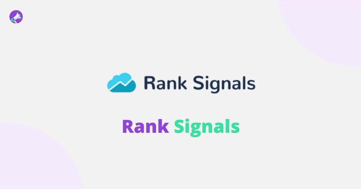 Rank Signals - Best Backlink Checker Tools