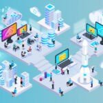cloud-services-isometric-composition